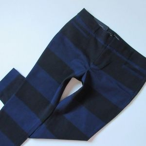 Banana Republic Pants - Banana Republic Sloan Navy Black Stripe Pants - 6